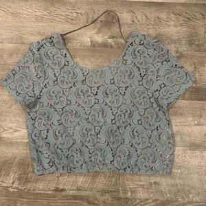 Blue Lace crop top
